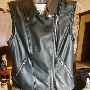 Maurices Jackets & Coats - Faux leather vest
